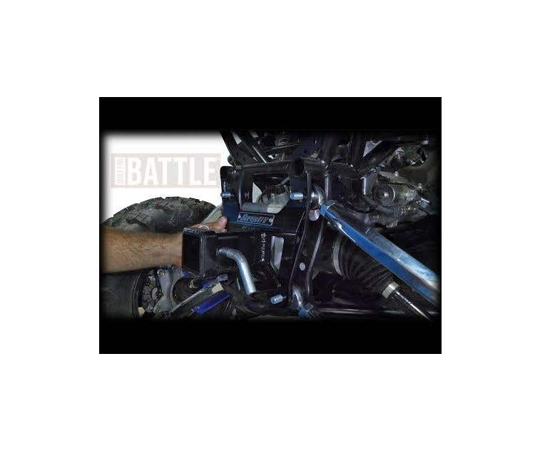 SuperATV Heavy Duty Rear Receiver Hitch for Honda Talon 1000R Black 2019+ 1000X