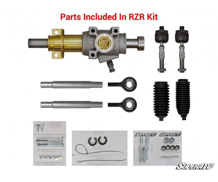 Standard 2008-2014 SuperATV RackBoss Heavy Duty Rack and Pinion for Polaris RZR 800//4 800