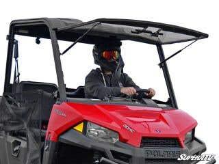 Polaris Ranger Midsize Scratch Resistant Flip Windshield