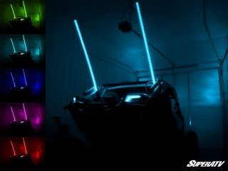 5' RGB LED Whip Lights