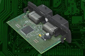 ECU out of its case showing the motherboard