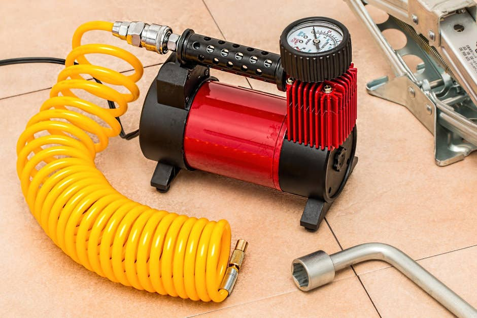 An air compressor is a must have for maintaining your tire pressure.