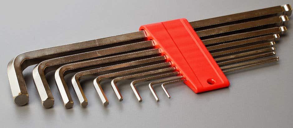 Allen keys are great for drain plugs.