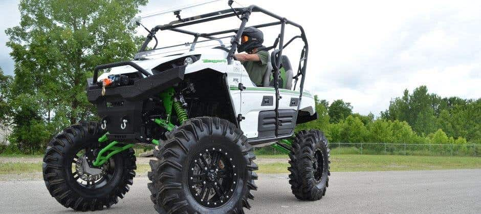 You need a pair of good off-road tires on your Polaris Ranger for traction.
