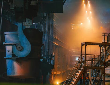 Interior View of a Factory