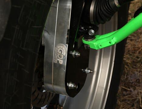Closeup of an 8 Inch Billet Portal Gear Lift on a UTV