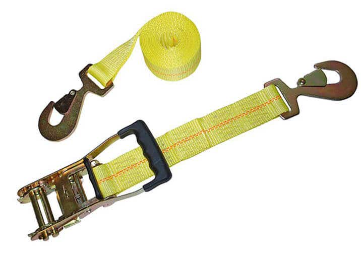 Yellow ratchet strap