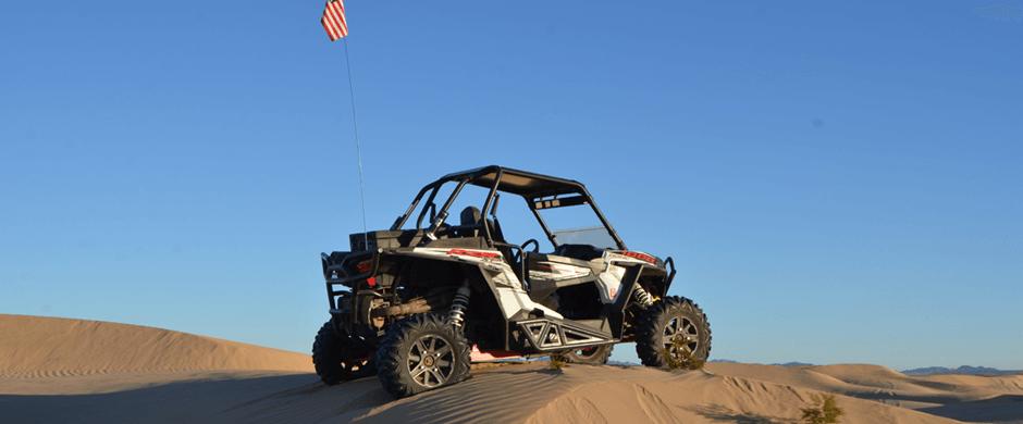 SuperATV Race Custom Build Riding in the Dunes.