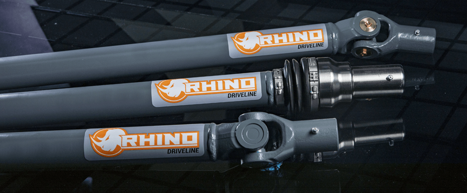 Closeup of a SuperATV Rhino Driveline Bounty, C-Series and U-Series Prop Shafts
