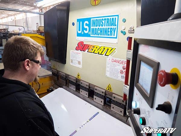 Man uses brake press to form UTV windshield