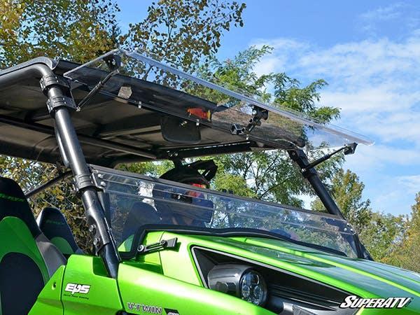 Kawasaki Teryx scratch resistant flip windshield