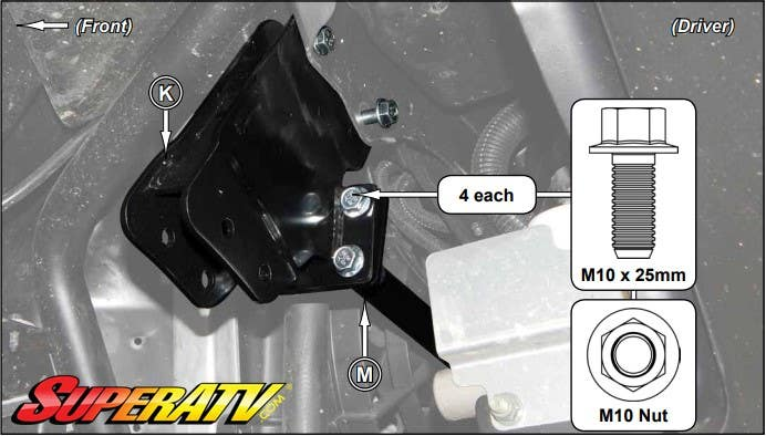 Front Brace and Front Mounting Brackets - SuperATV