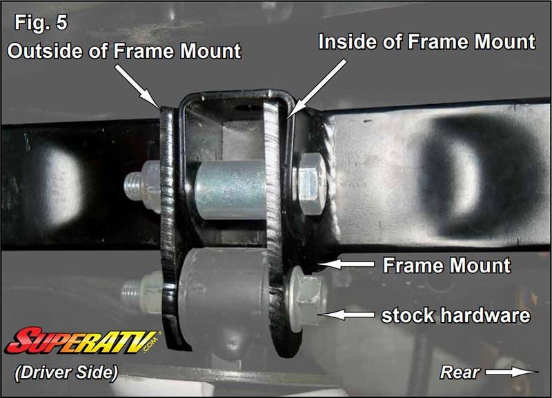 Reinstalling the Shocks with the Adjustment Collar - SuperATV