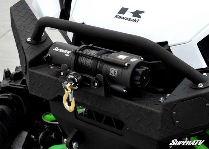 5,000 pound utv winch mounted on Kawasaki Teryx